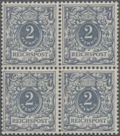 Deutsches Reich - Krone / Adler: 1900, 2 Pfg. Im Viererblock (senkr. Vorgefaltet), Dabei Linke Unter - Allemagne
