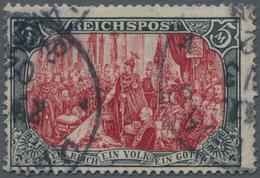Deutsches Reich - Germania: 1900, 5 Mark Reichspost, Sogenannte Zwischentype (Rahmen Type I, Mittels - Allemagne