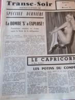 CABARET PARISIEN 5 RUE MOLIERE PARIS 1er LE CAPRICORNE 1960 - Beauté Féminine (1941-1960)