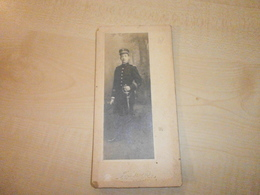 Photo Ancienne JEUNE HOMME  A IDENTIFIER (photographe MASSET?) - Krieg, Militär