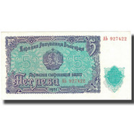 Billet, Bulgarie, 5 Leva, 1951, 1951, KM:82a, SUP - Bulgarie