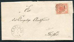 1870 Denmark 4sk Entire Vestervig - 1864-04 (Christian IX)