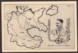 AK Propaganda / Zum Gedenken An Die Heimkehr Der Ostmark Ins Reich / Ein Volk - Ein Reich - Ein Führer - Weltkrieg 1939-45