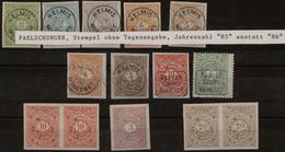 Deutsches Reich - Privatpost (Stadtpost): MORESNET: 1 - 50 Pfg. Gezähnt, Geschnitten, Einige Auch Mi - Poste Privée