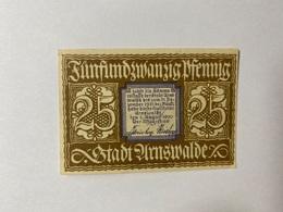 Allemagne Notgeld Arnswalde 25 Pfennig - [ 3] 1918-1933 : République De Weimar