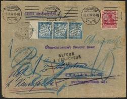 Deutsches Reich 6-2-14 Chemnitz Nach Berlin, Weiter Nach Menton (Alpes Maritimes) 9 -2-14 - Allemagne