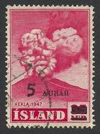 Iceland, 5 A. On 35 A. 1954, Sc # 283, Mi # 292, Used. - Usati