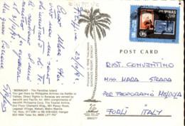 Francobollo Val 3,50 Anno 1991 Filippine  Su Cartolina Boracay - Filippine