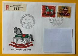 9917 - No 287 & 288 Jouets D'enfants FDC Recommandé Trogen Kinderdorf Pestalozzi  24.11.1983 - Pro Juventute