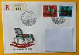 9918 - No 287 & 289 Jouets D'enfants FDC Recommandé Loco  24.11.1983 - Lettres & Documents