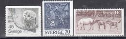 Schweden 1977 - Natur Und Kunsthandwerk, Mi-nr. 991/93, MNH** - Sweden