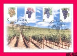 TRANSNISTRIA 2019 Flora Fruits Agriculture Viticulture Grape Wine Winemaking Vineyards FDC - Landwirtschaft