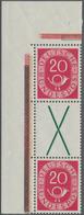 Bundesrepublik - Zusammendrucke: 1951, Posthorn, 20 Pfg. + X + 20 Pfg., Senkrechter Zusammendruck Au - [7] République Fédérale