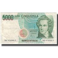 Billet, Italie, 5000 Lire, KM:111c, TTB - [ 2] 1946-… : Repubblica