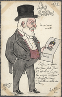 "Ansichtskarten: Künstler / Artists: MAGNO, ""Mon Guignol"" U. A., 22 Handkolorierte Karten Zur Französ - Non Classés"