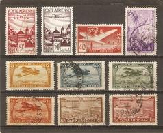 Maroc - Protectorat Français - Petit Lot De 10 Timbres° PA - Poste Aérienne - Postzegels
