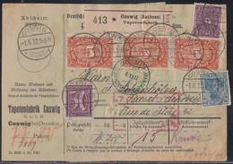 DR Paketkarte Mif Minr.144,164,171,14x 174 Coswig 1.6.22 Gel. In Schweiz - Deutschland