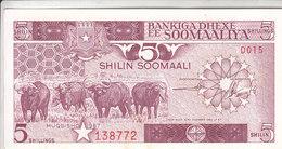 SOMALIA 5 SHILLINGS 1987 P 31c AU/UNC - Somalia