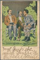 Ansichtskarten: Motive / Thematics: WERBUNG / REKLAME, 34 Zum Teil Sehr Plakative Historische Nation - Ansichtskarten