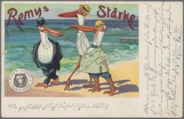 Ansichtskarten: Motive / Thematics: WERBUNG / REKLAME, Sehenswerte Partie Mit 60 Historischen Werbek - Ansichtskarten