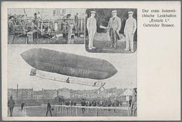 Ansichtskarten: Motive / Thematics: ZEPPELIN / LUFTSCHIFFE, Sehenswerte Sammlung Mit 136 Historische - Ansichtskarten