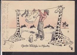 "Postkarte "" Große Wäsche In Afrika "" - Storia Postale"