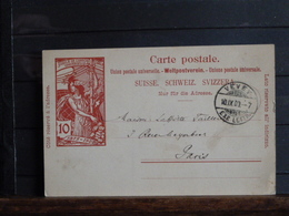 Suisse - Entier Postal 10 C Rouge - Jubilé De L'Union Postale Universelle - Envoyé De Vevey à Paris En 1900 - Entiers Postaux