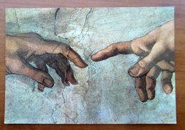 La Creazione Dell'uomo (particolare) MICHELANGELO  Cartolina Non Viaggiata - Paintings