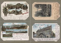Ansichtskarten: 1895-1910, Altes AK-Album Mit über 200 Zumeist Topografischen Karten, Dabei Lithos, - Ansichtskarten