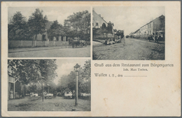 Ansichtskarten: KARTON Mit Zwei Alben In Denen Sich 190 Historische Ansichtskarten Befinden. Eine Se - Ansichtskarten