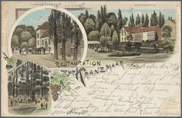 Ansichtskarten: SCHACHTEL, Mit über 850 Historischen Ansichtskarten Ab Ca. 1898 Bis In Die 1970er Ja - Ansichtskarten