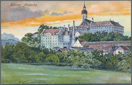 Ansichtskarten: ANSICHTSKARTEN ALBUM, Prall Gefülltes Historisches Dekoratives Album Mit Gut 200 Alt - Ansichtskarten