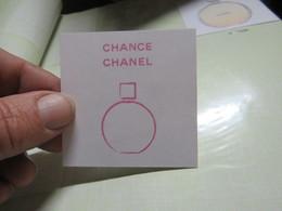 Carte Chanel CHANCE LE ROUGE CRAYON DE COULEUR - Cartes Parfumées
