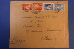 282 PORTUGAL LETTRE 1928 DE LISBOA A PARIS 8 TIMBRE ASSEZ RARE COMBINé - 1910-... République