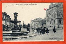 CPA - D05 - GAP -  (Hautes Alpes) - Oblitéré  1913 -  Place Sainte - Colombe - Et  Banque  De  France - - Gap