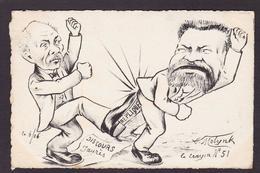 CPA JAURES Jean Satirique Caricature Non Circulé Molynk Litho Clemenceau - Satiriques