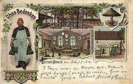 LEIPZIG-GOHLIS, Restauration Ohne-Bedenken, Döllnitz (1900) Litho AK - Leipzig
