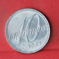 BRAZIL 10 CRUZEIROS 1965 -    KM# 572 - (Nº33487) - Brasilien