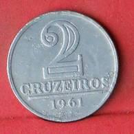 BRAZIL 2 CRUZEIROS 1961 -    KM# 571 - (Nº33490) - Brasilien