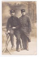 Carte Photo à Identifier Deux Militaires N°118 Infanterie ? Sur Col VOIR ZOOM R. Guilleminot Boesflug Et Cie Paris - Régiments