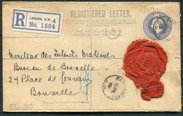 1919 GB Registered Letter Stationery, London SW4, Parliament Street, Grindlay - Bruxelles Belgium - 1902-1951 (Könige)