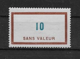 Fictif N° 107 De 1954 ** TTBE - Cote Y&T 2020 De 3,00 € - Phantomausgaben