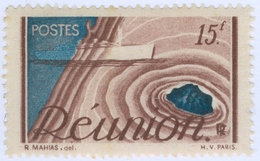 REUNION, COLONIA FRANCESE, FRENCH COLONY, 1947, 15 F., FRANCOBOLLO NUOVO (MNH**)  Mi: 325, Scott: 265, Yt: 278 - Réunion (1852-1975)
