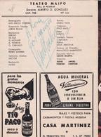 OSVALDO PACHECO, DOMINGO BARBIERI, JUAN CARLOS ALTAVISTA, ADA ZANET. 4 AUTOGRAFOS DE ACTORES ARGENTINOS  -LILHU - Autographes