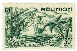 REUNION, COLONIA FRANCESE, FRENCH COLONY, 1937, 30 F., FRANCOBOLLO NUOVO (MNH**)  Mi:RE 155, Scott:FR-RE 168, Yt: 150 - Ongebruikt