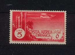 1704 - Cirenaica - Posta Aerea -  Della Serie Pittorica - 5 Lire  Rosso- Anno 1932 - Cirenaica