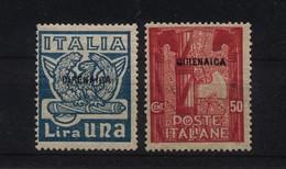"""1704 A - Cirenaica - """"Marcia Su Roma"""" Francobolli D'Italia Soprastampati """"Cirenaica""""- Anno 1923 - Cirenaica"""