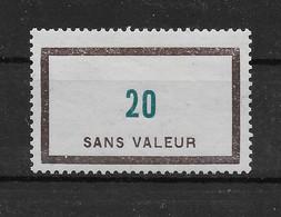 Fictif N° 110 De 1954 ** TTBE - Cote Y&T 2020 De 3,00 € - Phantomausgaben
