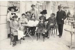 MARTIGNY LES BAINS Carte Photo 1912 Terrasse De Café - France