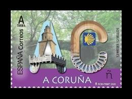 Spain 2020 Mih. 5407 12 Months, 12 Provinces: A Coruna. Castles. Towers. Lighthouse. Forest. Bridge MNH ** - 2011-... Neufs